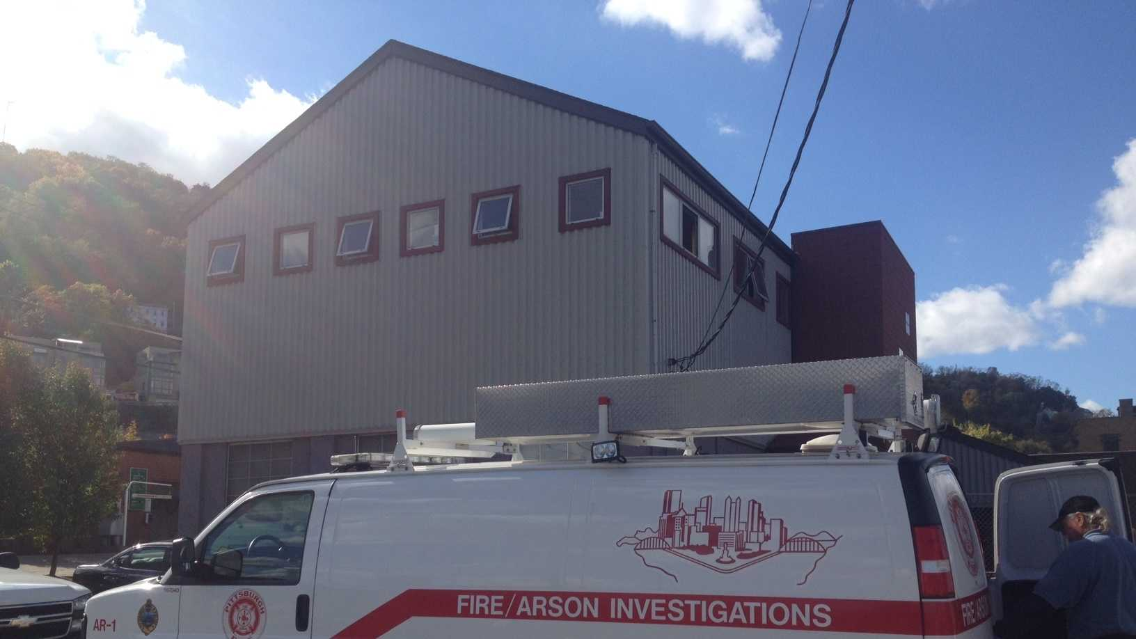 A fire in a stairwell created a lot of smoke at an office building on the South Side.