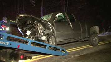 The driver of the other truck and a 13-year-old passenger were taken to a Morgantown hospital for treatment.