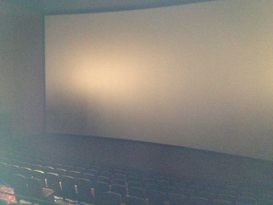 A movie theater screen.