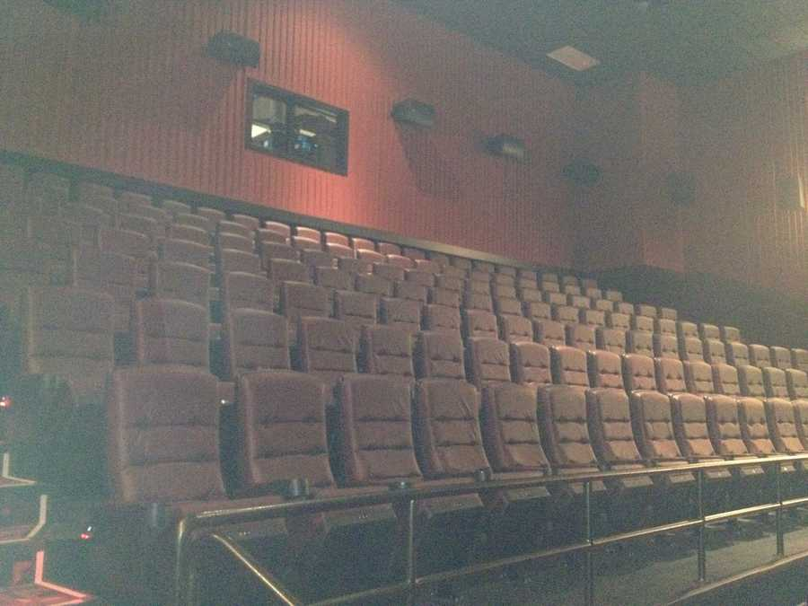 Seats in a movie theater.