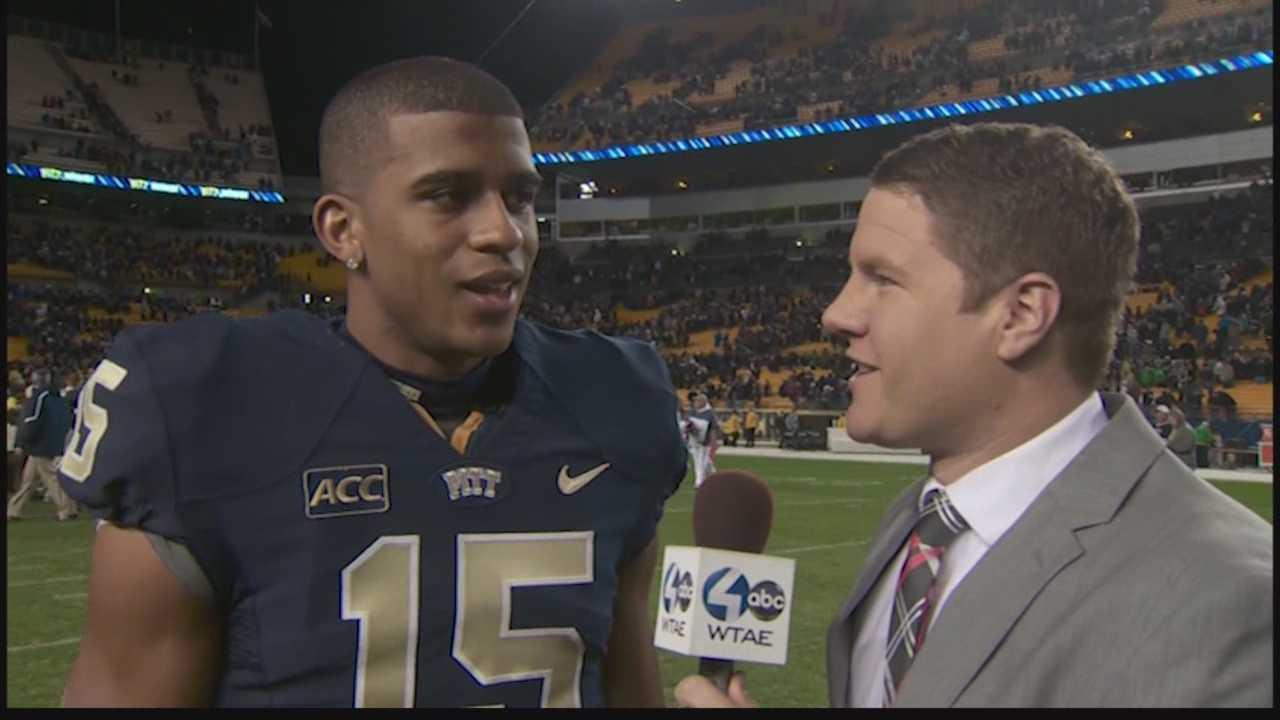 Justin Rose interviews Pitt wide receiver Devin Street.