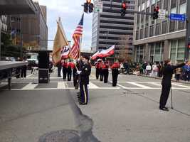 The annual Veterans Day parade made its way through the streets of downtown Pittsburgh in 2013.