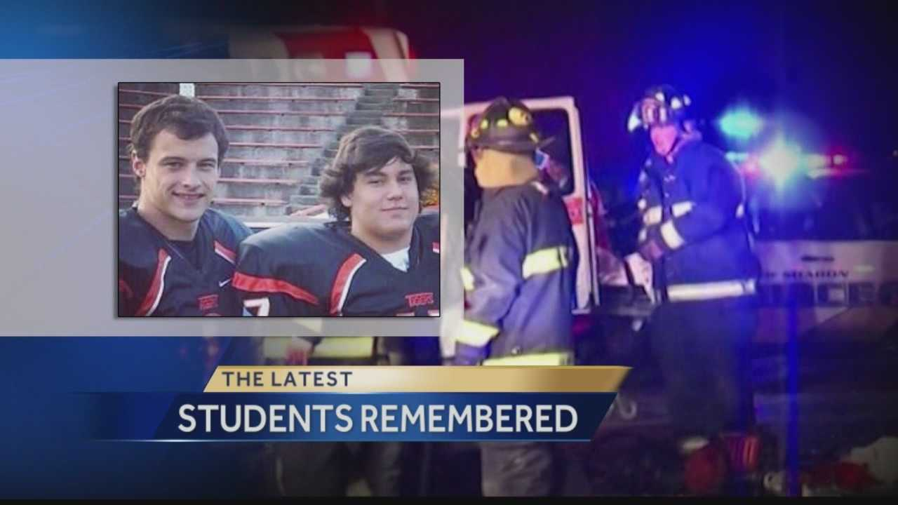 Action News' Jackie Schafer has the latest on the Sharon High School community after two popular football players were killed on Friday night as the team heads off to the playoffs on Monday night.