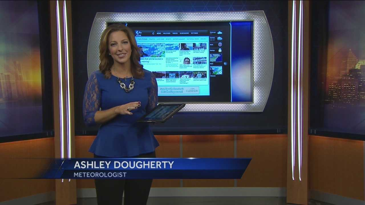 Weather Watch 4's Meteorologist Ashley Dougherty has the latest features within the free WTAE Mobile App to assist with this Winter Season including Tuesday's snow storm.