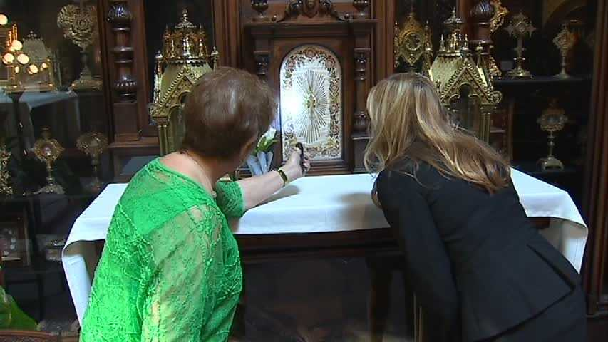 Carole Brueckner is a layperson who, along with a priest, takes care of the collection. She showed several of the items to WTAE.
