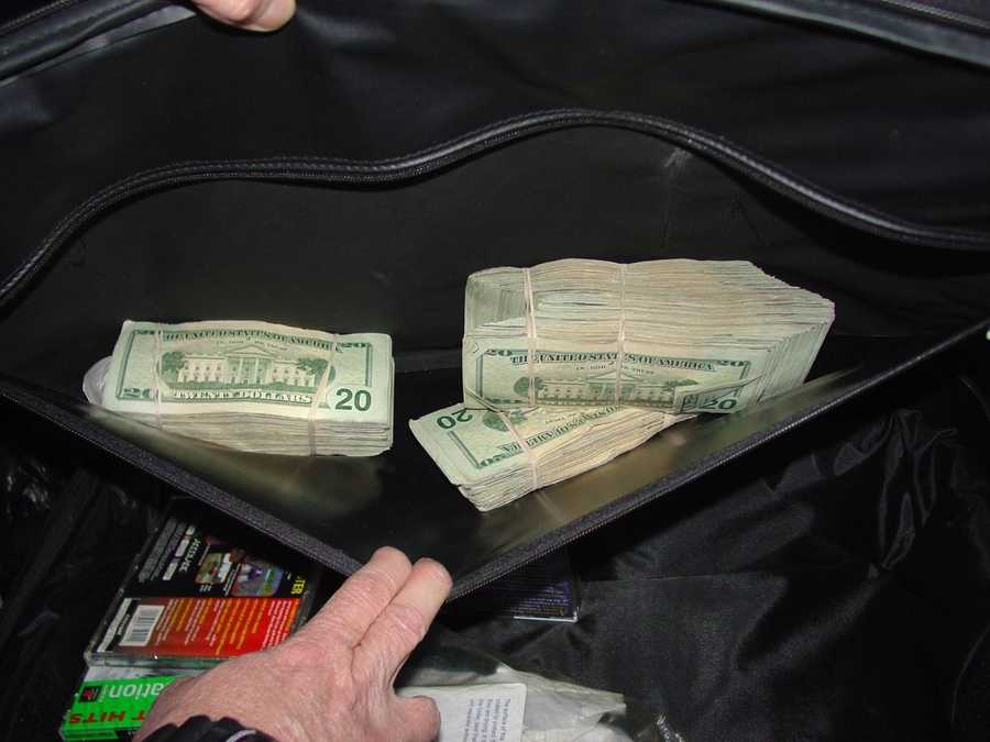 Here are photos of some of the cash and other items that police recovered after Konias was arrested.