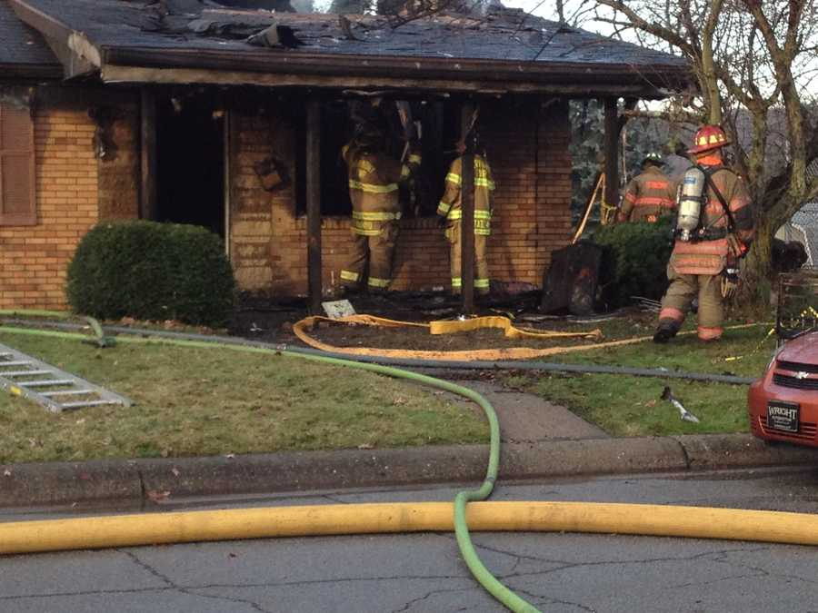 A house in Baden, Beaver County, was a total loss after a fire Friday morning.