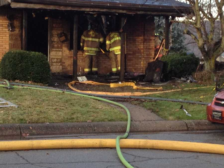 Firefighters think the fire began in the garage/basement area of the house.