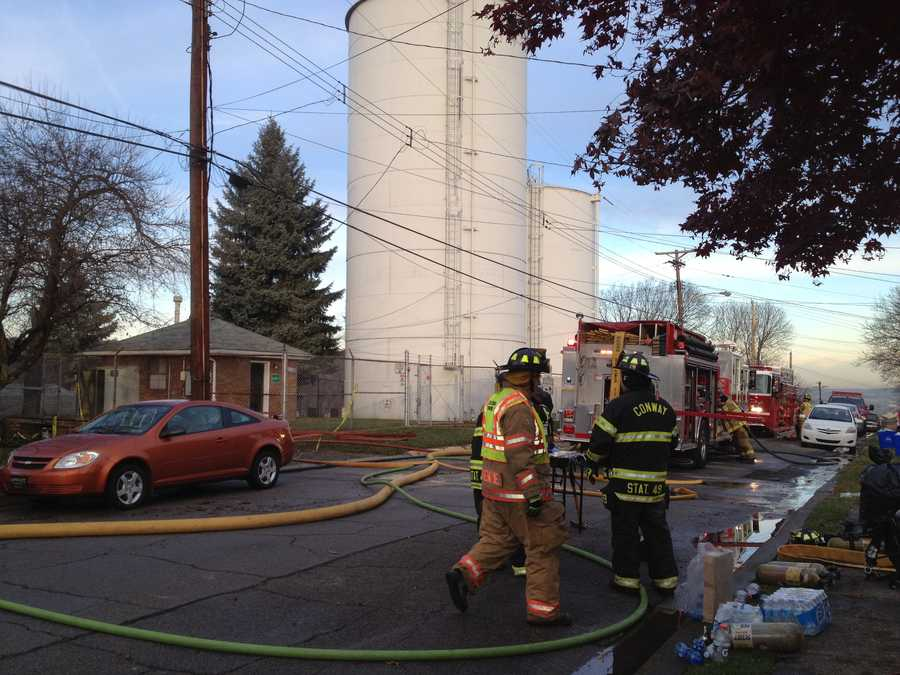 Two people were living in the house. Both got out safely before firefighters arrived.