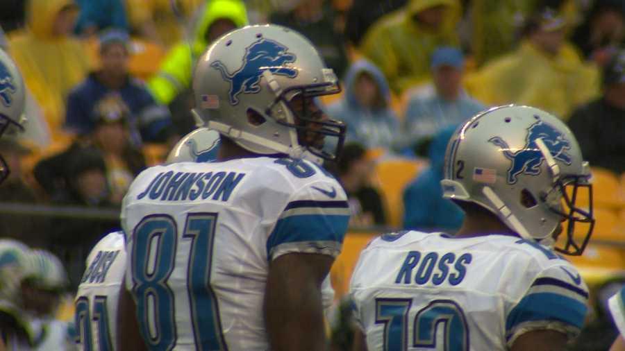 "Detroit wide receiver Calvin Johnson, aka ""Megatron"""