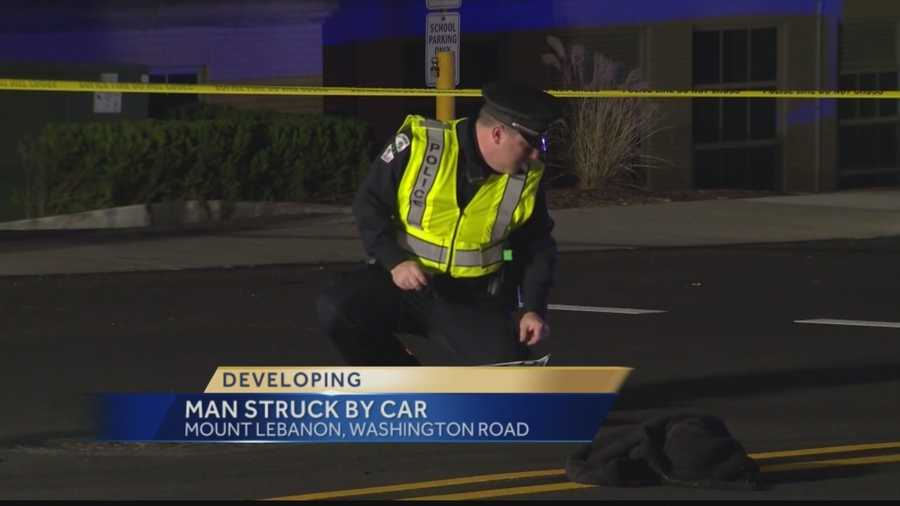 Police said a driver hit a 30-year-old man who attempted to cross Washington Road in an area where there are no crosswalks.
