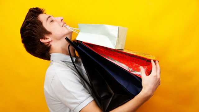 Guy with shopping bags