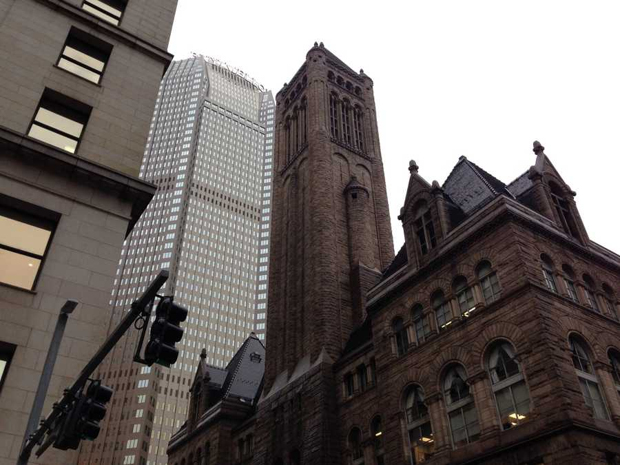 For the first time, the bell tower at the Allegheny County Courthouse will be decorated with holiday lights on Light Up Night.