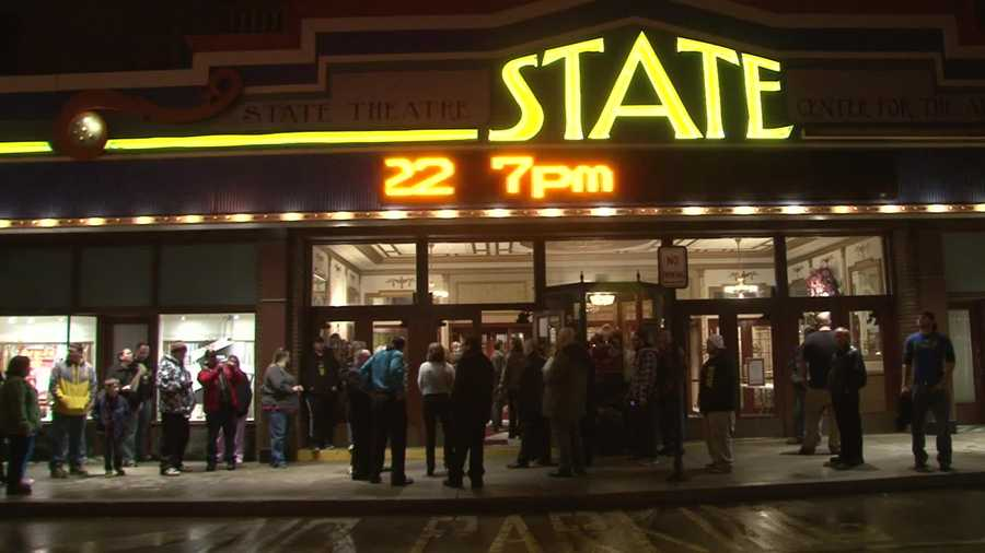 """""""Pro Wrestlers vs Zombies"""" held its red carpet premiere at the State Theatre Center for the Arts in Uniontown on Friday night."""
