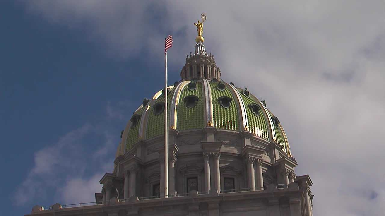 The state Capitol in Harrisburg, Pa.