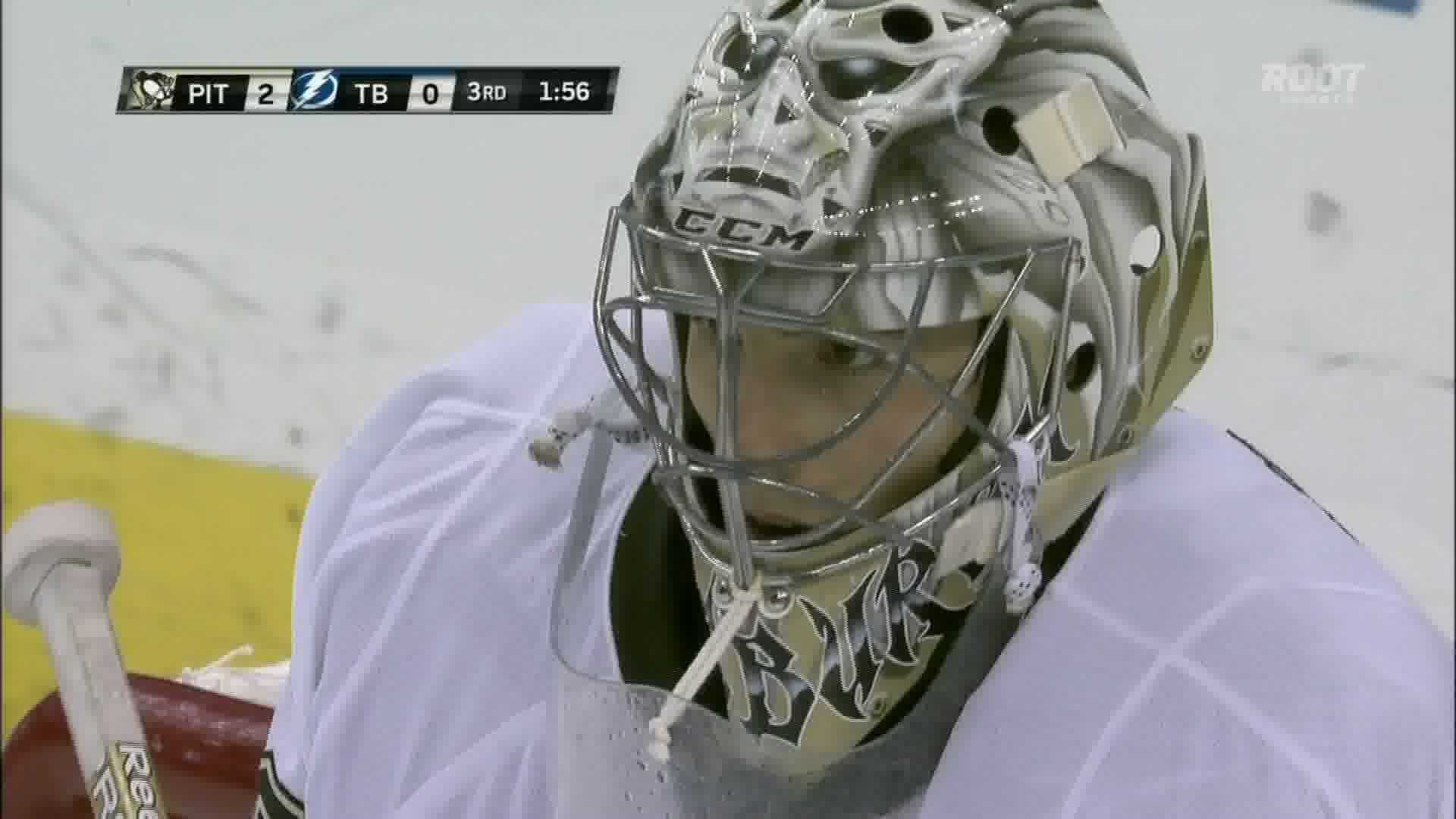 Penguins goalie Marc-Andre Fleury stopped 21 shots in a 3-0 win at Tampa Bay.