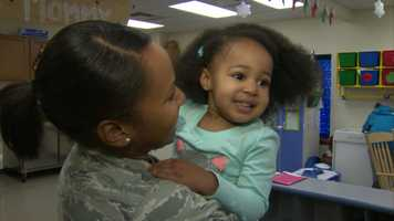 For Air Force Airman 1st Class Alexis Cabell, it was a moment she had been waiting for since she last saw Makayla when she was barely a toddler.