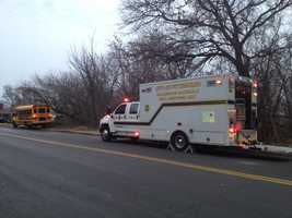 A school bus was involved in a three-vehicle accident in the Crafton Heights area of Pittsburgh on Thursday morning.
