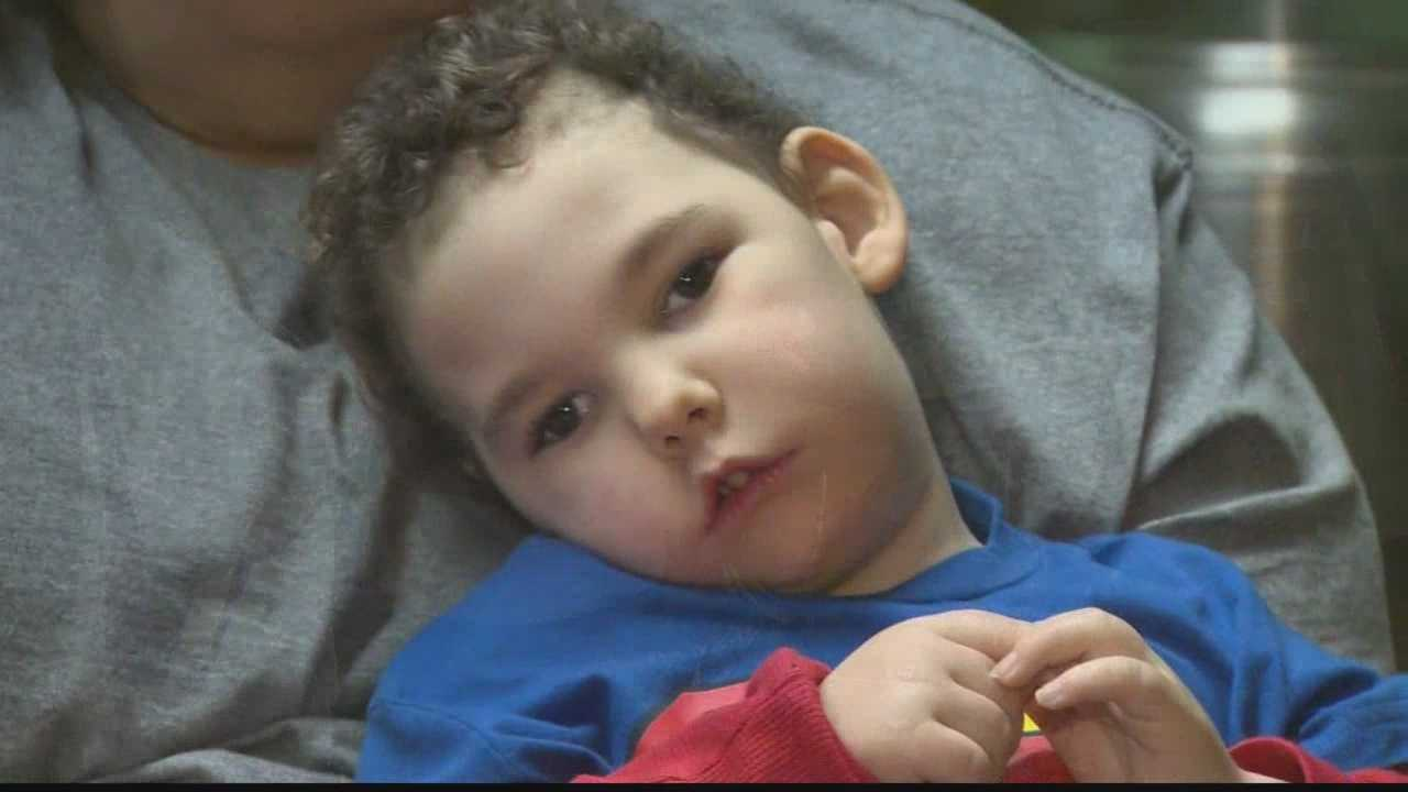 A family is struggling to rebuild after fire destroyed their home four days ago, ruining medical equipment that helps their 2-year-old son survive.