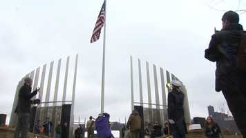 The memorial is the result of more than 13 years of planning, designing and construction.
