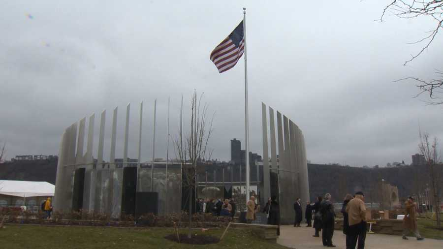 An unveiling and dedication was held Friday morning for the Southwestern Pennsylvania World War II Memorial on the North Shore.