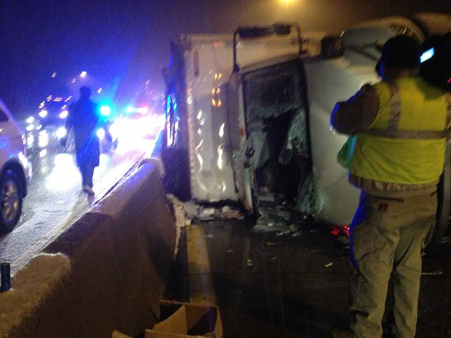 The passenger and the driver were taken to UPMC Mercy in Pittsburgh. Their conditions were not immediately available.