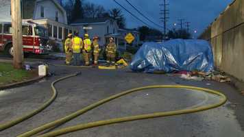 One person was killed Monday afternoon when a car slammed into a concrete wall in Bethel Park.