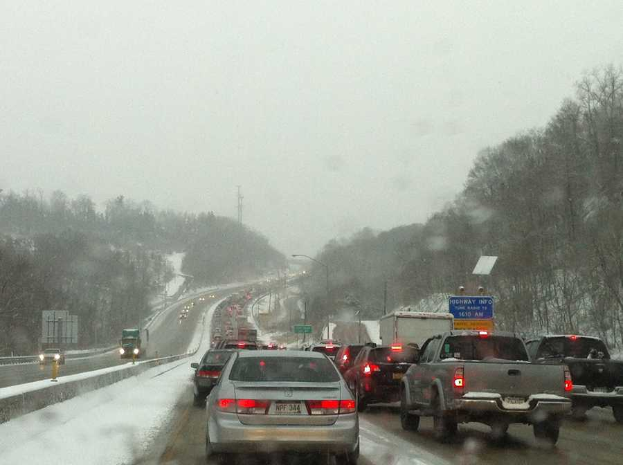 Nothing but tail lights on the Parkway East.