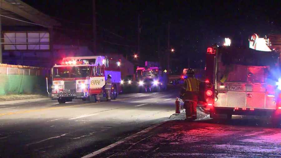 The crash happened at Glenshaw Glass on William Flynn Highway in Shaler Township.