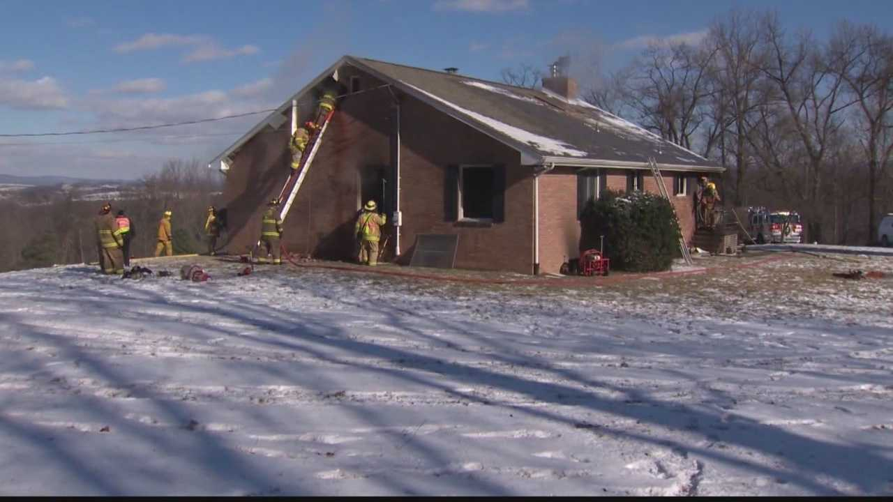 img-Wood burner to blame for fire that detroyed home