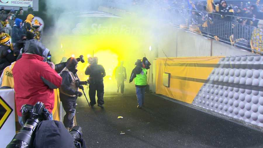 The family of Lance Corporal Cory J. Lemasters got the surprise of a lifetime when they saw him walk out of the tunnel at Heinz Field on Sunday night.
