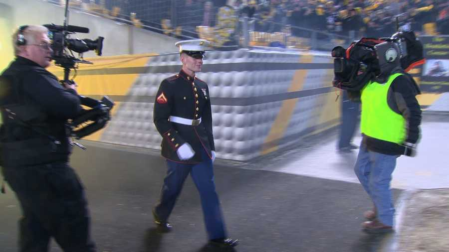 Lemasters' family thought he was still deployed in Afghanistan and did not expect to see him walk onto the field during the Steelers-Bengals game.