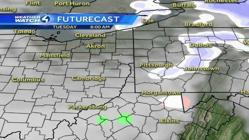 As the first burst of snow leaves the Pittsburgh region, another one will follow it later in the day.