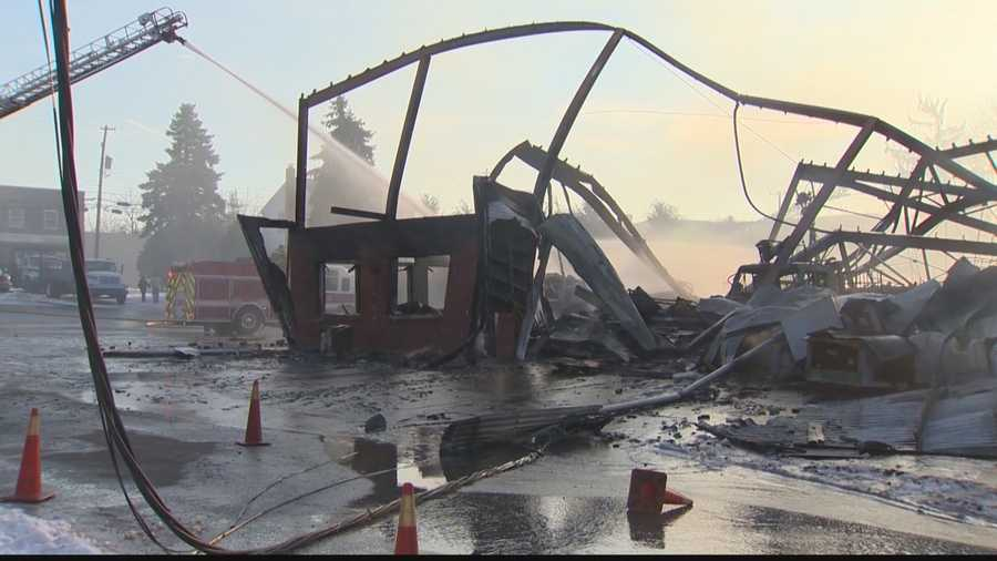 It took nearly four hours for firefighters to knock down the huge flames in Homer City.