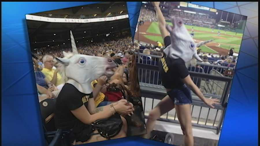 #5 Adult film director defends Pittsburgh officer's photo with unicorn mask, porn star - Pittsburgh police investigating a photo that surfaced online of an officer wearing a unicorn mask and posing with an adult film star after she was asked to leave PNC Park, but one of the women involved insists the officer shouldn't be punished. VIEW STORY