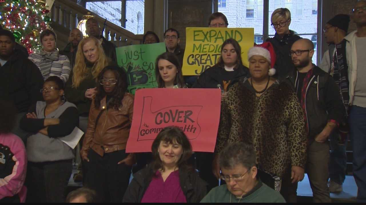 img-Holiday health care Medicaid rally targets Gov Corbett