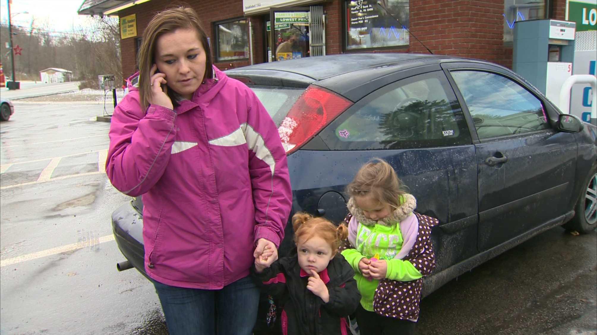 Kayla Coliny with kids