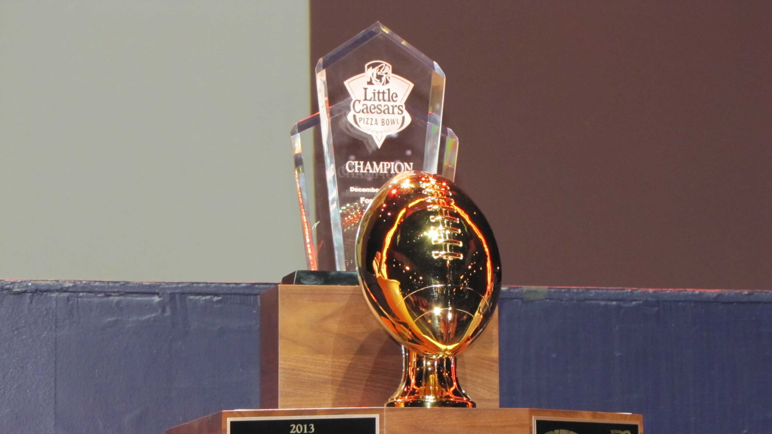 Little Caesars Pizza Bowl trophy