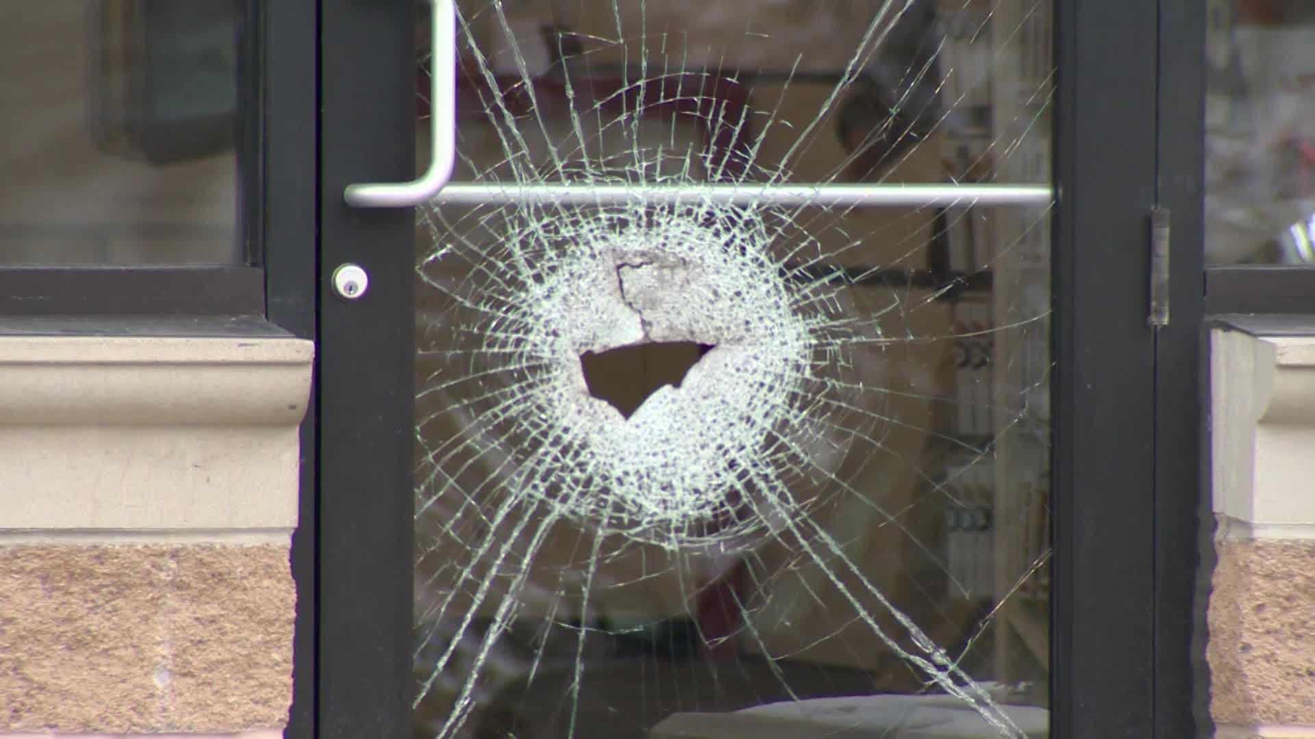 broken glass at Verizon Wireless