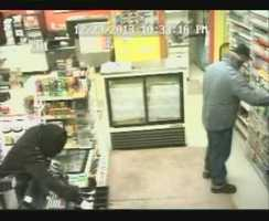 While the man with the gun empties the cash register, the other man goes behind the counter and starts grabbing boxes of cigarettes. Police said they fled with $435 and several boxes of Marlboro cigarettes.
