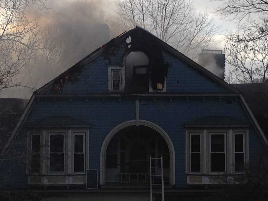 The fire started about 1 p.m. at a home on State Street that houses Beaver Valley Floral and the Metatrends Wealth Management firm.