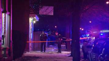 Allegheny County homicide detectives have obtained an arrest warrant for a man suspected of shooting three people outside an East Pittsburgh bar on New Year's Eve.