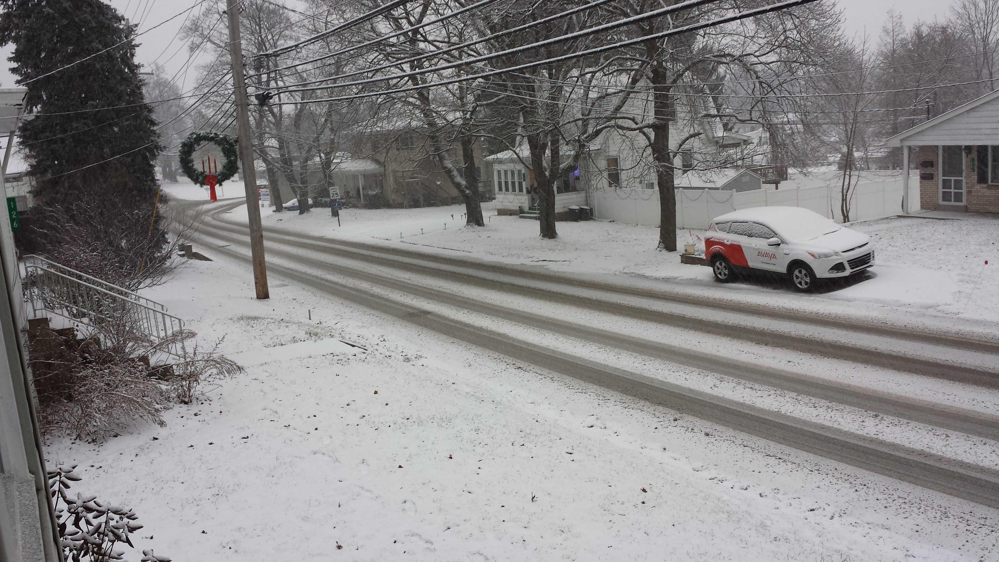 snow in Delmont