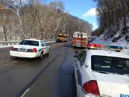 The bus was full of students from Highlands High School. They were not hurt in the crash.