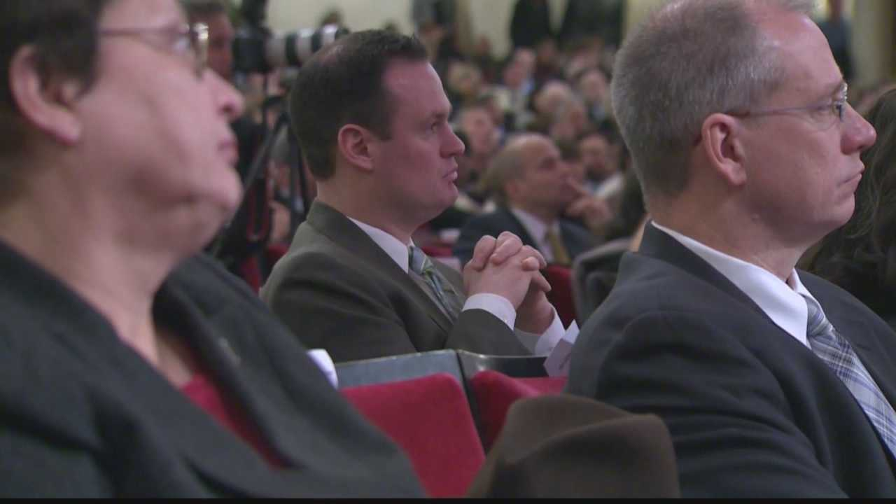 Luke Ravenstahl at Bill Peduto's inauguration as Pittsburgh's 60th mayor