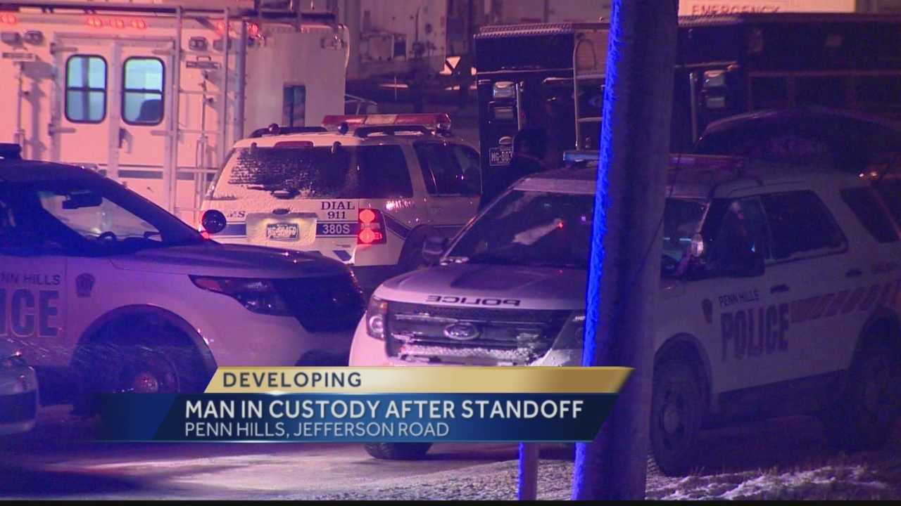 A suspect barricaded himself inside a home on Jefferson Road in Penn Hills Monday night and refused to come out.