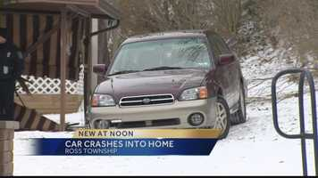 VIDEO: Car hits house in Ross Township