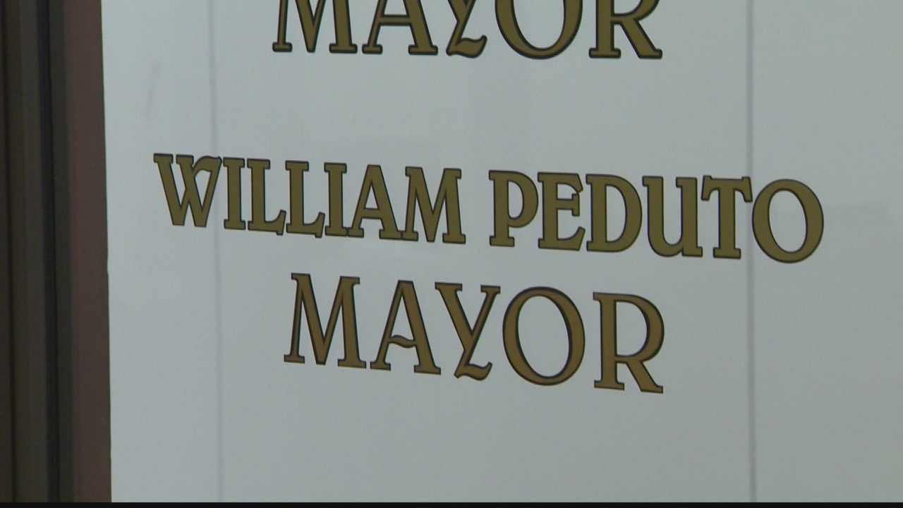 Bill Peduto's name on mayor's office