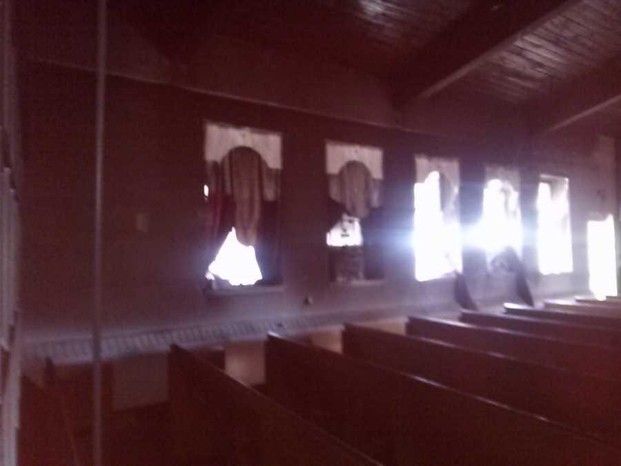 A fire damaged God's Re-Creation Christian Center in McKeesport.