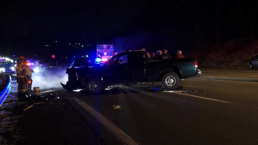 A car and a truck collided Thursday night in Westmoreland County.